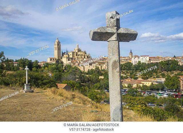 Overview from La Piedad. Segovia, Spain