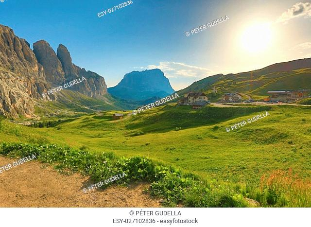 Majestic landscape in the Dolomites