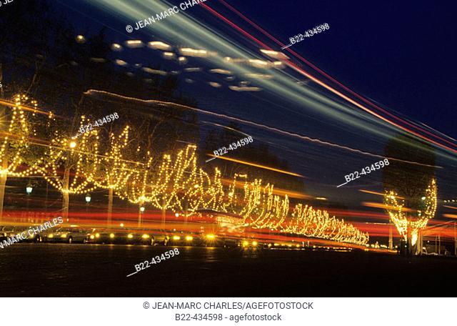 Christmas time. Champs Elysées. Paris. France