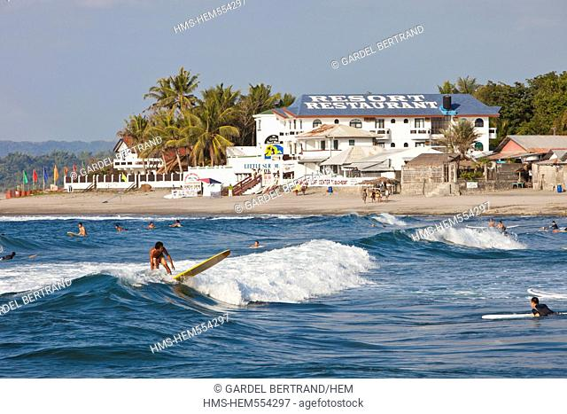 Philippines, Luzon island, La Union, San Fernando, the surfing beach of San Juan