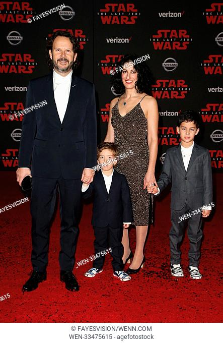 Premiere Of Disney Pictures And Lucasfilm's 'Star Wars: The Last Jedi' Featuring: Ram Bergman, Family Where: Los Angeles, California