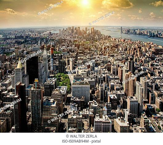 Aerial view of New York , New York State, USA