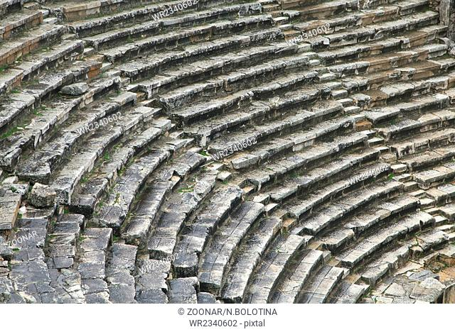 Ancient greek amphitheater in Turkey