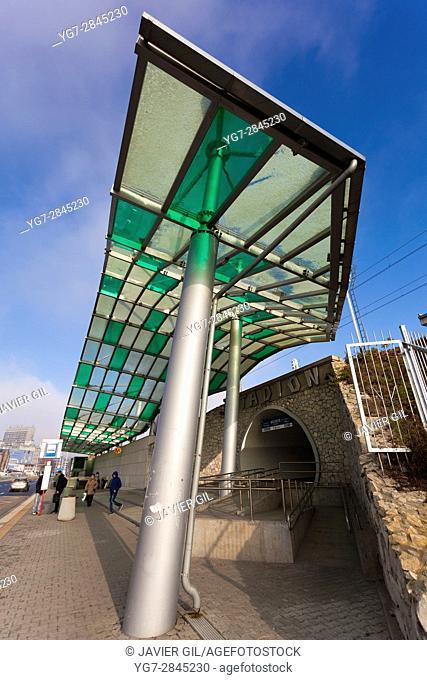 Metro line 2, Stadion Narodowy station, Warsaw, Poland