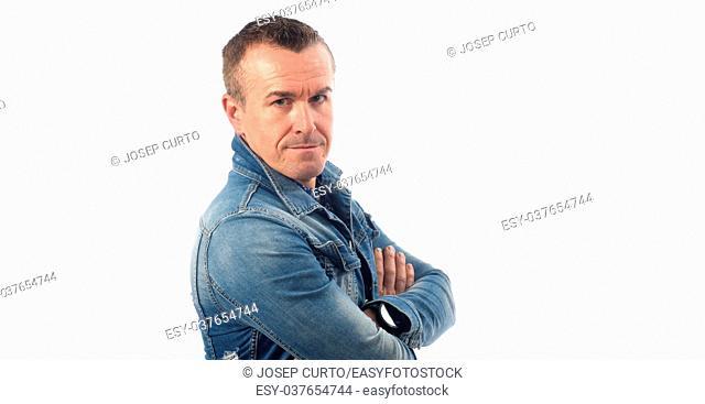 portrait of a man dressed in denim