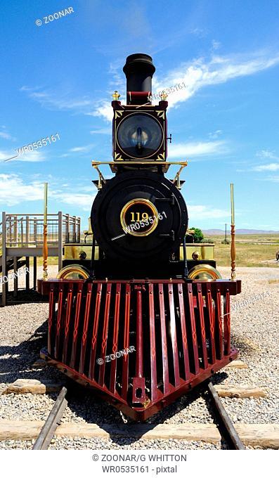 Historic Steam Locomotive at Golden Spike National Historic Monument