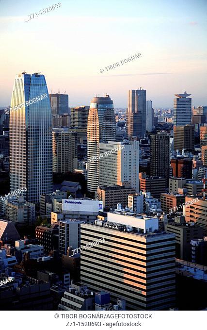 Tokyo skyline, general aerial view, Japan