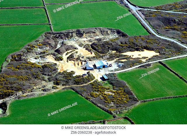 Dobles sand quarry, Cameron Estate, St Agnes, Cornwall, UK