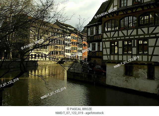 Buildings along a canal
