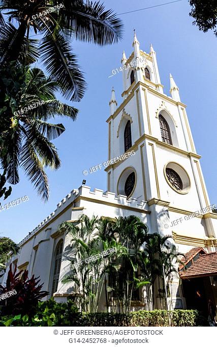 India, Indian, Asian, Mumbai, Fort Mumbai, Kala Ghoda, St. Thomas Cathedral Church, steeple