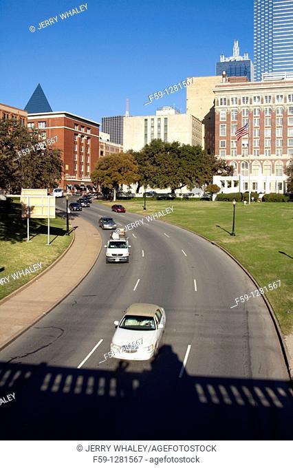 Area where President Kennedy was Shot,, Dallas, Texas