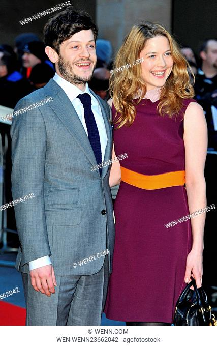Jameson Empire Awards 2016 at the Grosvenor House in London, England. Featuring: Iwan Rheon and Zoe Grisedale Where: London