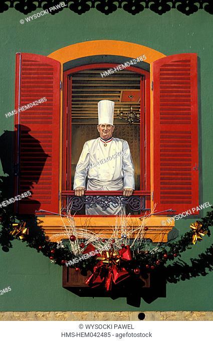 France, Rhône (69), Collonges, Lyon, Mont d'Or, Paul Bocuse's restaurant