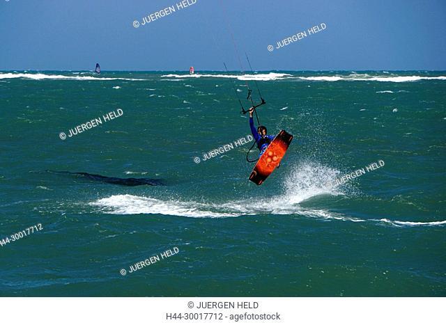 Dominican Republic, Cabarete, Cabarete beach, North Coast, Caribbean, Kiteboaders, Kite surfing, North Coast, Dom Rep