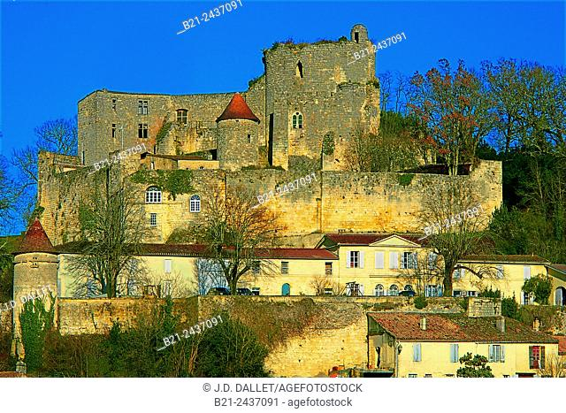 11th century castle at Langoiran, Gironde, Aquitaine, France