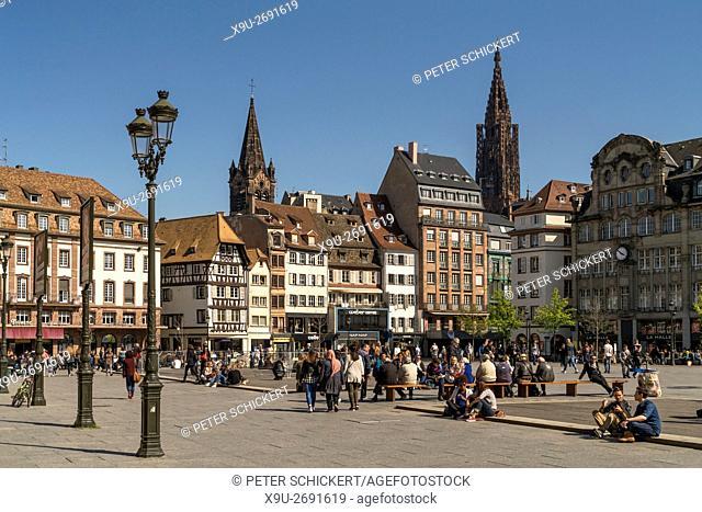 central square Place Kleber in Strasbourg, Alsace, France