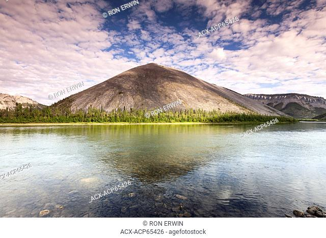 The Ogilvie Mountains near the meeting of the Ogilvie River and Engineer Creek near the Engineer Creek Campground on the Dempster Highway in the Yukon, Canada