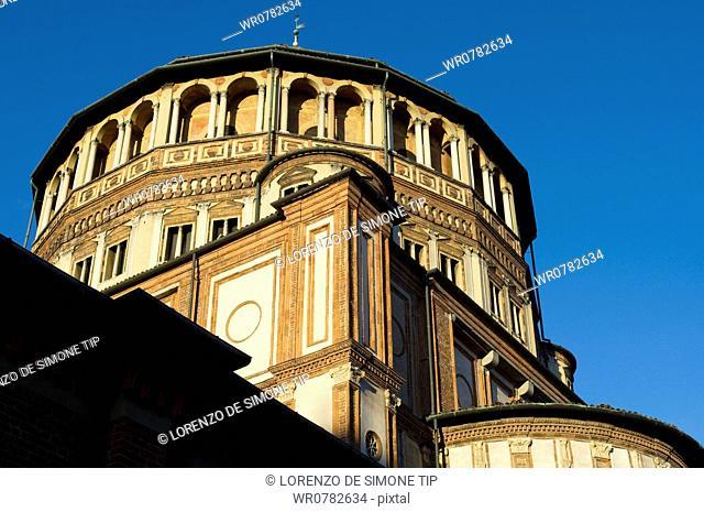Italy, Lombardy, Milan, Church S. Maria delle Grazie