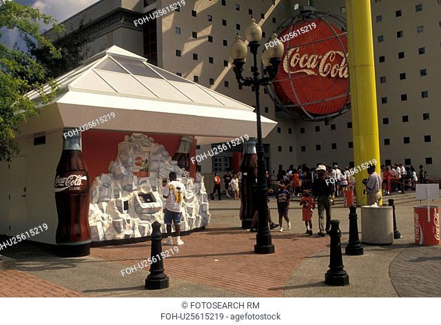 coke, Atlanta, GA, World of Coca-Cola, Georgia, Coca-Cola vending machine outside World of Coca-Cola in downtown Atlanta