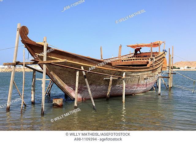 Dhow construction shipyard, Sur,Ash Sharqiyah Region, Arabian Sea, Sultanate of Oman, Asia