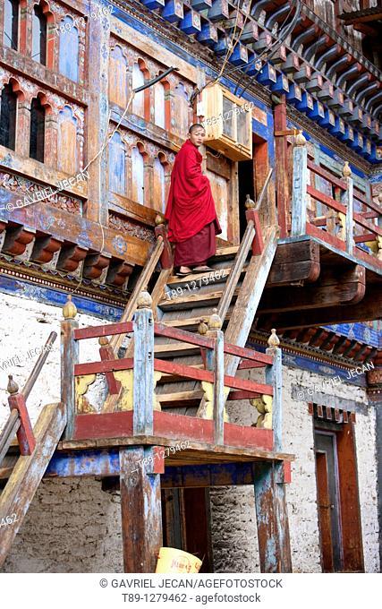 Monk on the balcony
