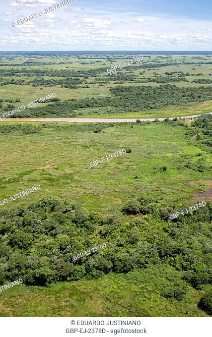Landscape, Taquari River, Corumbá, Mato Grosso do Sul, Brazil
