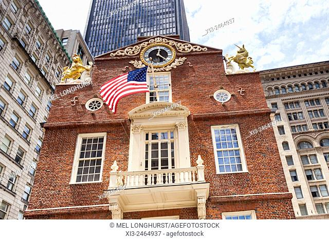 East facade of Old State House, State Street, Boston, Massachusetts, USA