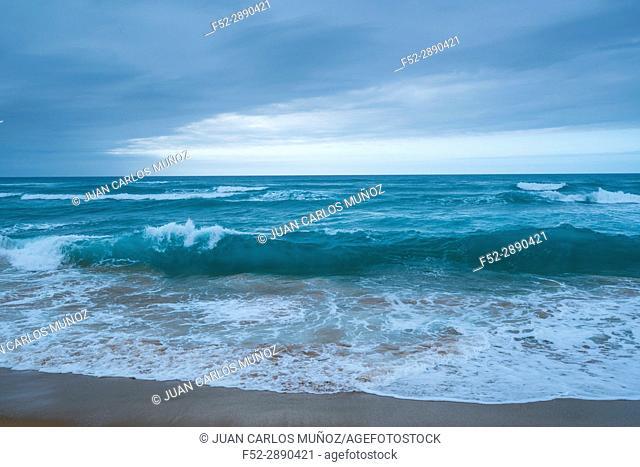 Valdearenas beach, Dunas de Liencres Natural Park, Cantabrian Sea, Piélagos Muicipality, Cantabria, Spain, Europe