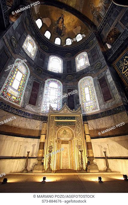 El Mihrab de la Iglesia de Santa Sofía de Estambul, Turquía
