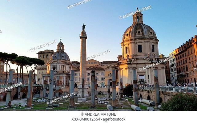 Trajan's column. Trajan Forum. Rome, Italy