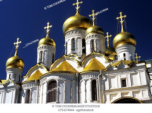 Cathedral of the Assumption Cupolas, Kremlin, Moscow