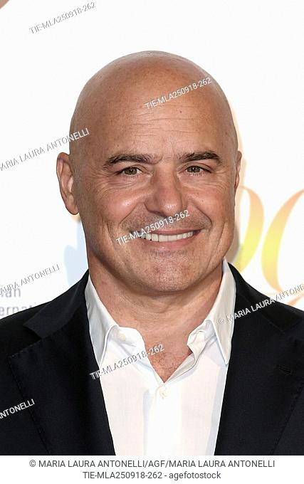 Luca Zingaretti during red carpet of 60/90 party, for 60 years of career and ninetieth birthday of Fulvio Lucisano, Italian Film Producer
