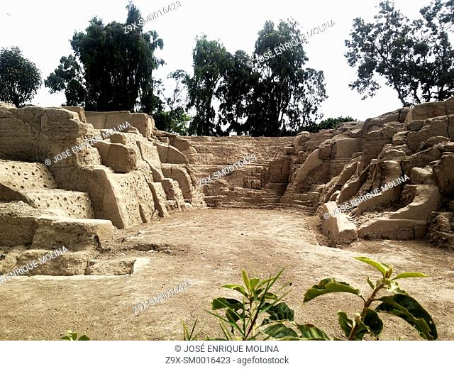 Archaeological site of Maranga 15th centuri AD.Lima, Peru