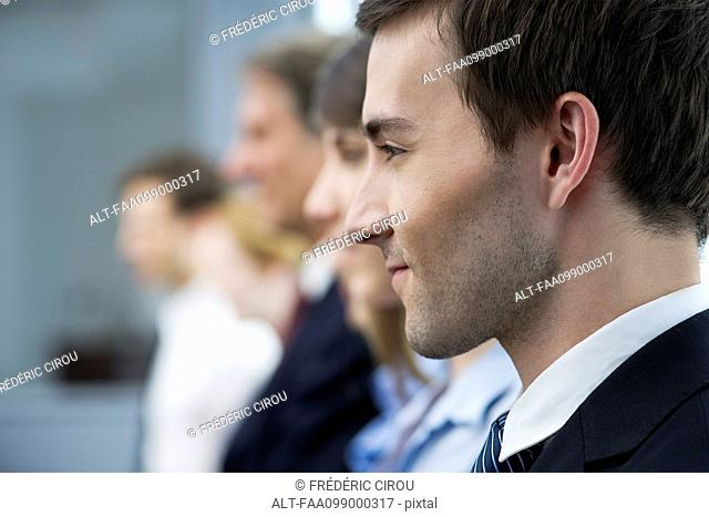 Businessman with positive outlook