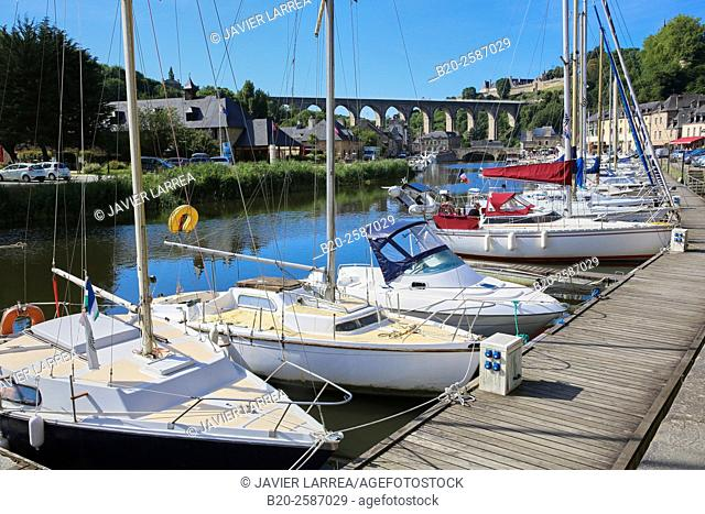 River Rance, Harbour, Dinan, Bretagne, Brittany, France