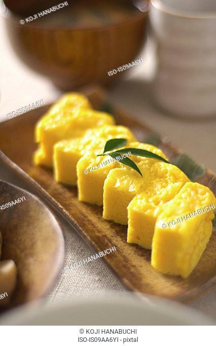 Still life of japanese omelette