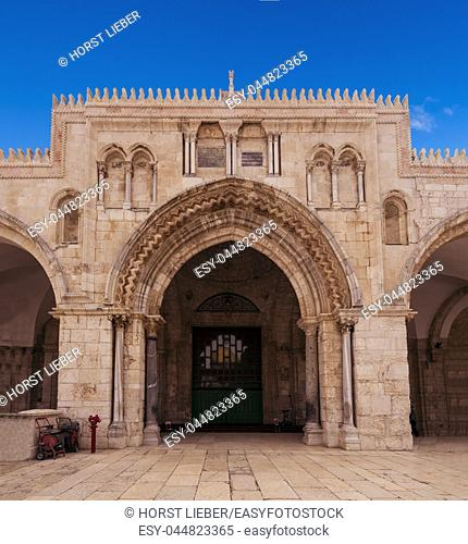 The al-Aqsa mosque on the Temple Mount in Jerusalem, Israel, Middle East