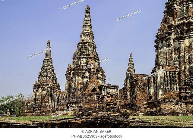 Thailand Ayutthaya Wat Chedi Sri Suriyothai The ruins of Wat Chai Watannaram