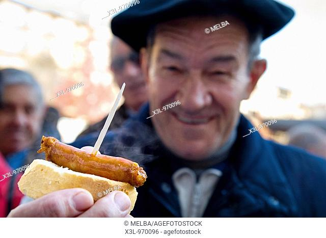Chistorra, a type of sausage made in Navarre  Spain