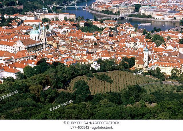 View on Prague from Petrin Hill. Prague. Czech Republic