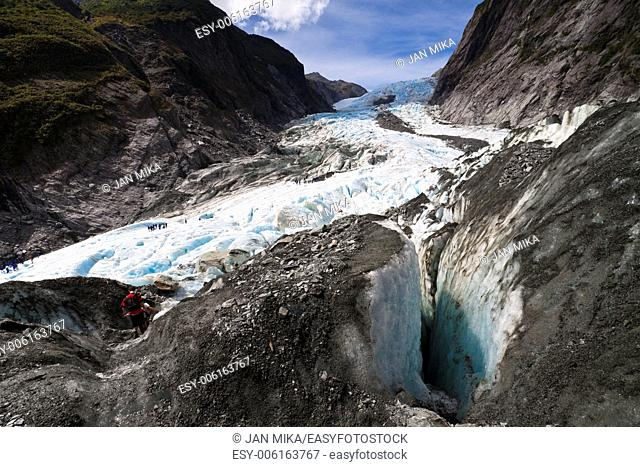 Scenic landscape at Franz Josef Glacier Southern Alps, West Coast, South Island, New Zealand