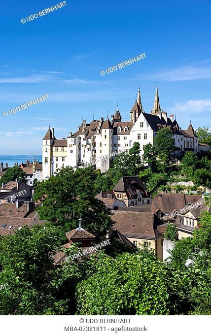 Neuchâtel Castle / Chateau de Neuchatel, Neuchâtel, Canton Neuchâtel, Western Switzerland, Switzerland