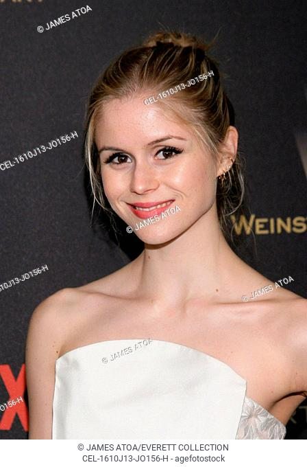 Erin Moriarty at the after-party for The Weinstein Company & Netflix 2016 Golden Globe After Party 3, Robinsons May Lot, Beverly Hills, CA January 10, 2016