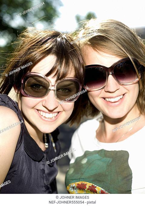 Two teenage girls, Stockholm, Sweden