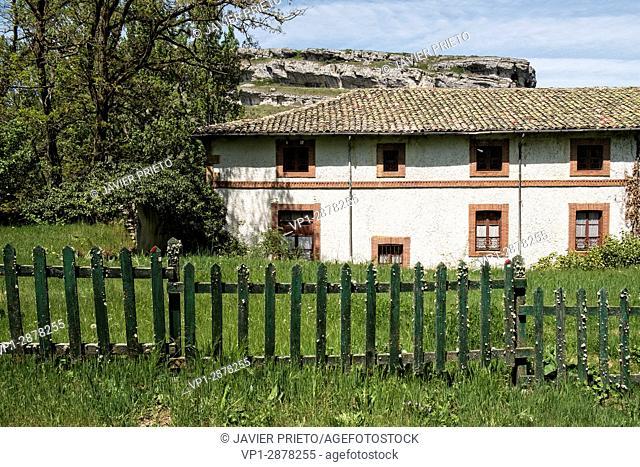 Former hydroelectric power station of La Horadada. Natural Monument of Las Tuerces. World Geopark Las Loras. Palencia. Castilla y León. Spain