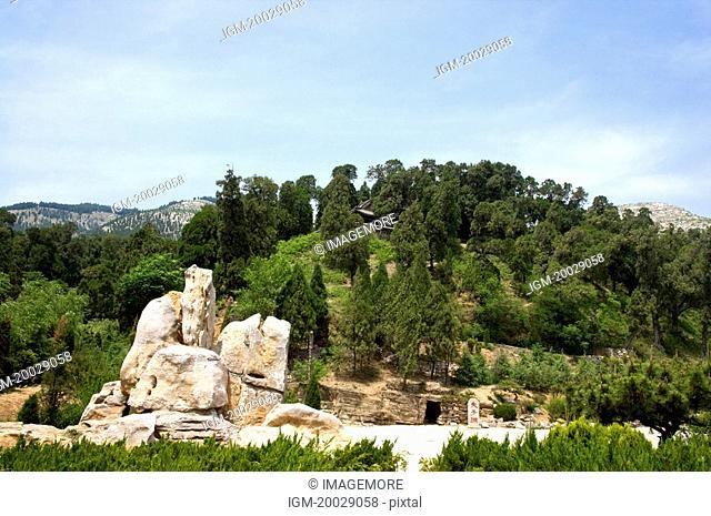 Asia, China, Shandong, Qufu, Nishan, Confucius Birth Cave
