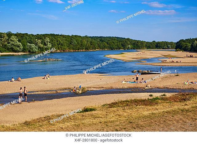 France, Cher 18, Sancerre village,the Loire river's bank