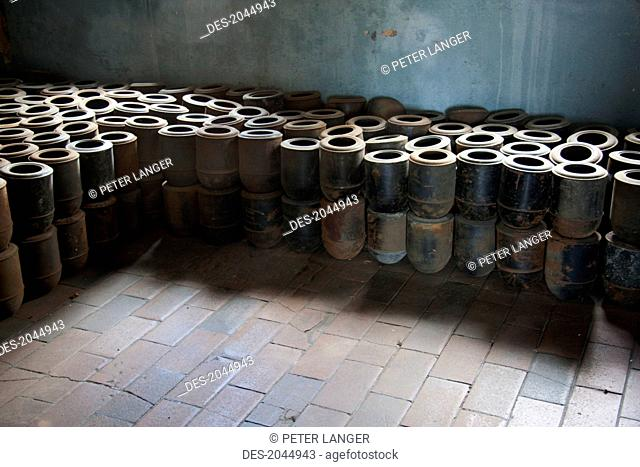 Urns That Contained The Ashes Of Murdered Inmates, Crematorium, Buchenwald Concentration Camp, Germany