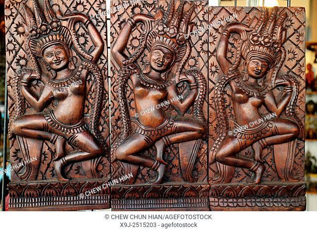 Cambodian handicrafts, Angkor, Siem Reap town, Siem Reap province, Cambodia, Asia