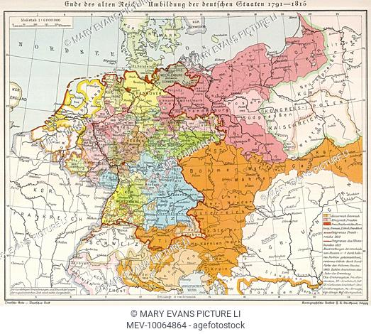 Map Of Germany 1815.Map Germany 1815 Stock Photos And Images Age Fotostock
